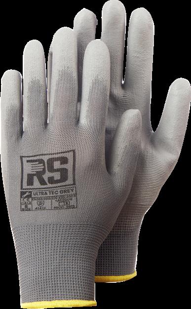 Γάντια εργασίας με επικάλυψη πολυουρεθάνης RS ULTRA TEC GREY