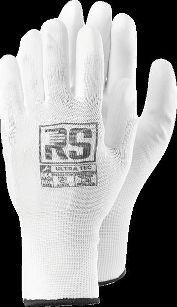 Γάντια εργασίας με επικάλυψη πολυουρεθάνης RS ULTRA TEC WHITE
