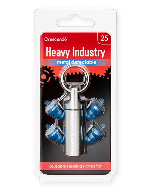 Ανιχνεύσιμες ωτοασπίδες με τεχνολογία φίλτρων Crescendo Heavy Industry 25 Metal Detectable