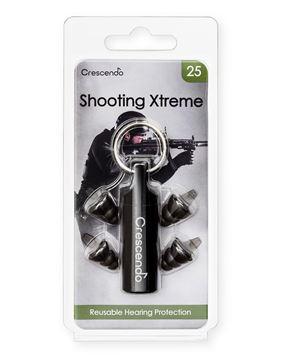Ωτοασπίδες με τεχνολογία φίλτρων Crescendo Shooting Xtreme 25