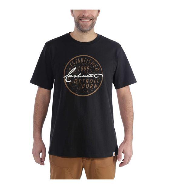 ΜΠΛΟΥΖΑΚΙ CARHARTT 104105 DETROIT BORN GRAPHIC T-SHIRT BLACK