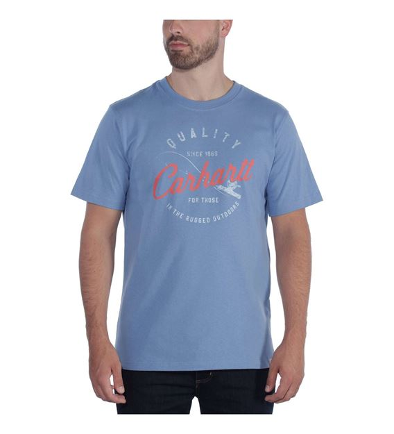 ΜΠΛΟΥΖΑΚΙ CARHARTT 104182 FISHING GRAPHIC T-SHIRT FRENCH BLUE