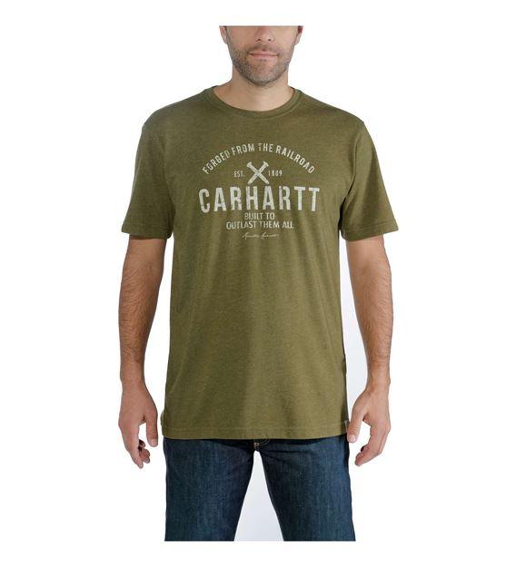 ΜΠΛΟΥΖΑΚΙ CARHARTT 103658 MADDOCK OUTLAST GRAPHIC T-SHIRT MILITARY OLIVE HEATHER
